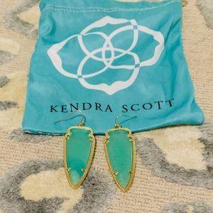 Kendra Scott Blue Arrow Earrings
